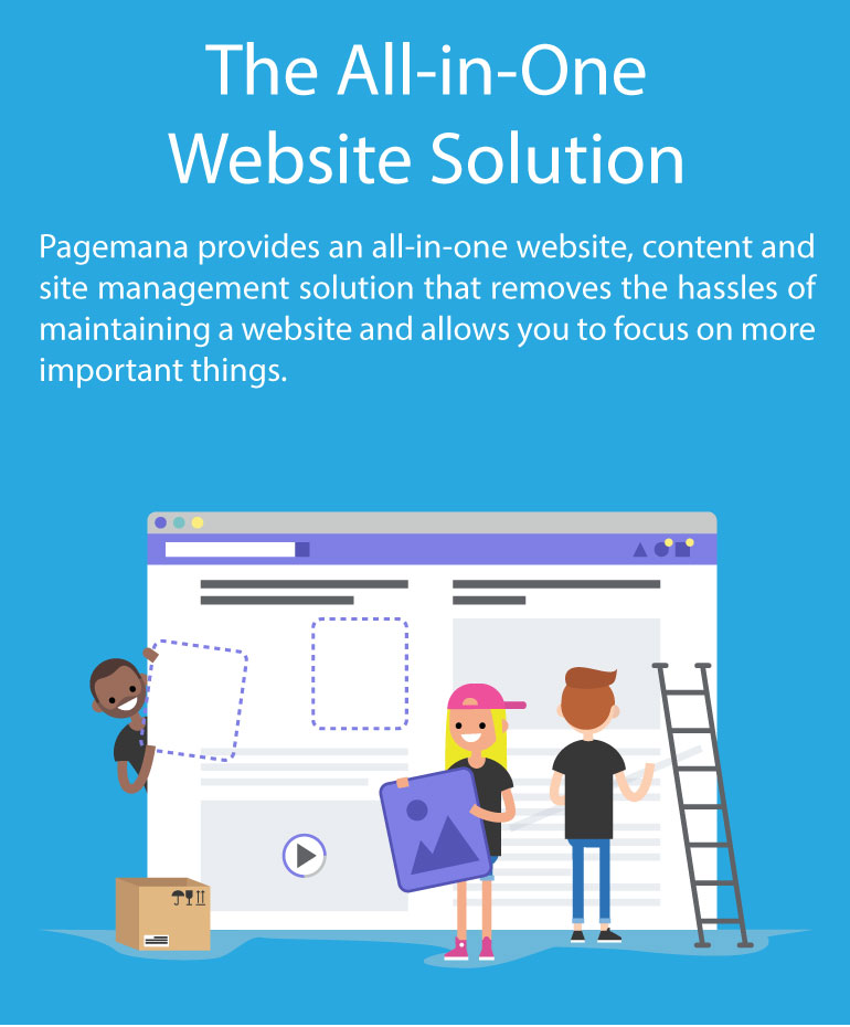 Pagemana provides an all-in-one website, content and site management solution that removes the hassles of maintaining a website and allows you to focus on more important things.